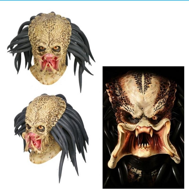 Predator Cosplay Mask Costume Helmet Props Antenna Halloween Party Horror