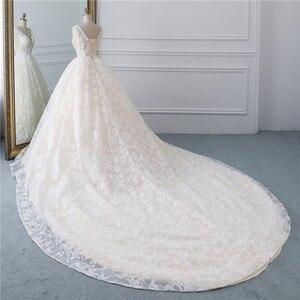 Image 3 - Fansmile Luxury Lace Long Train Ball Gown Wedding Dress 2020 Vestidos de Novia Princess Quality Wedding Bride Dress FSM 524T