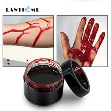 Кровь Хэллоуин Поддельные раны шрамы синяки Поддельные крови макияж тело лицо краска моделирование человеческого вампира Косплей ультра-реалистичный