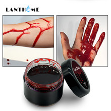 Sang Halloween fausses blessures cicatrices ecchymoses faux sang maquillage corps visage peinture Simulation de Vampire humain Cosplay Ultra-réaliste(China)