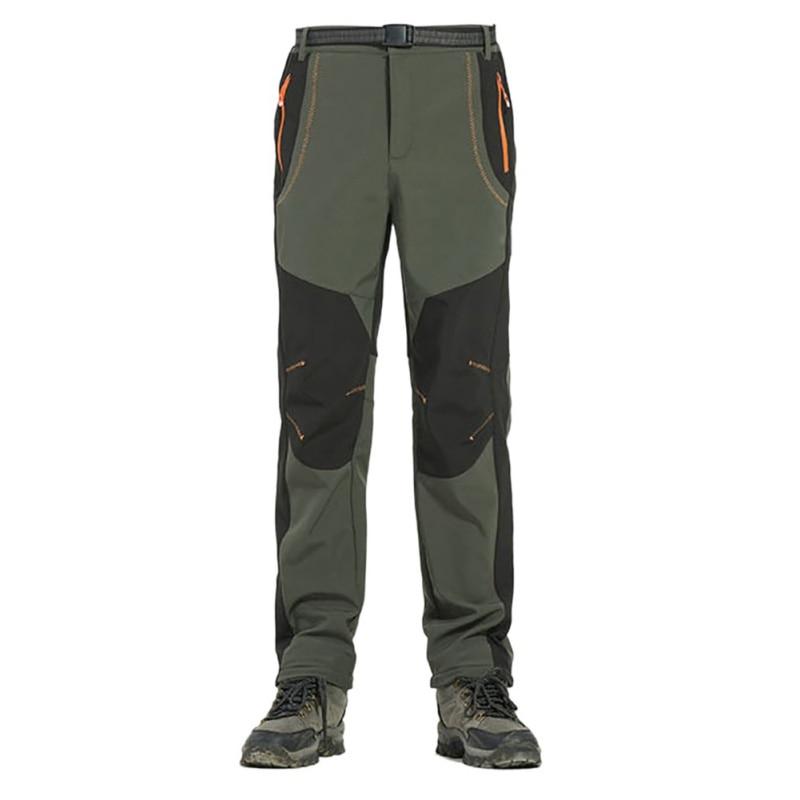 Outdoor Men Windproof Waterproof Softshell Fleece Snow Pants Hiking Camping Hiking Pants Thermal Autumn Winter Trousers