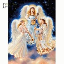 Набор для алмазной живописи 5d с изображением ангела святого