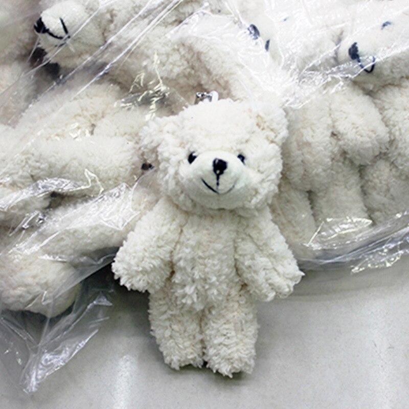Hot Sale 12cm Mini Plush Bear Wedding Gift Decor Stuffed Dolls Teddy