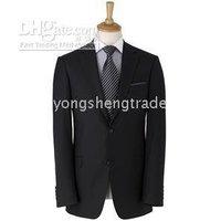 Пользовательский черный мужской костюм куртка + Брюки для девочек принять Paypal 640