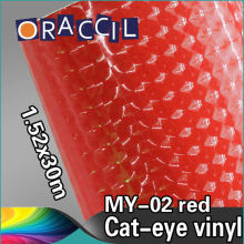 Car Styling 1.52x30m pvc vinyl self adhesive film cat eye decal sticker car wrapping