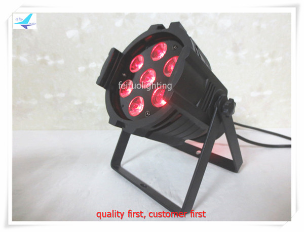 free shipping 20pcs/lot lumiere dj stage mini 6in1 led par light 7x18w rgbwa uv discp wash party christmas lighting