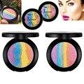 1 Unids Multicolor Arco Iris Resaltador Shimmer Powder Eyeshadow Palette Maquillaje Cosmético Belleza Maquillaje Facial