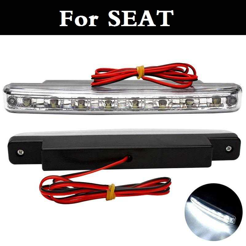 New 2017 Car styling Daytime Running Lights 8 LED DRL 12V DC Head Lamp For SEAT Cordoba Exeo Ibiza Cupra Leon Cupra Mii Toledo