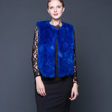 2018 Rabbit Fur Vest Women Winter Real Fur