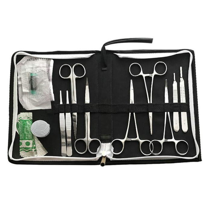 15pcs/set 14cm Surgical suture tools, operation training instrument tool with selica gel kit for Medical/science/Students medical skills training tools medical care supplies nursing products surgical training models training kit gasen csm0028