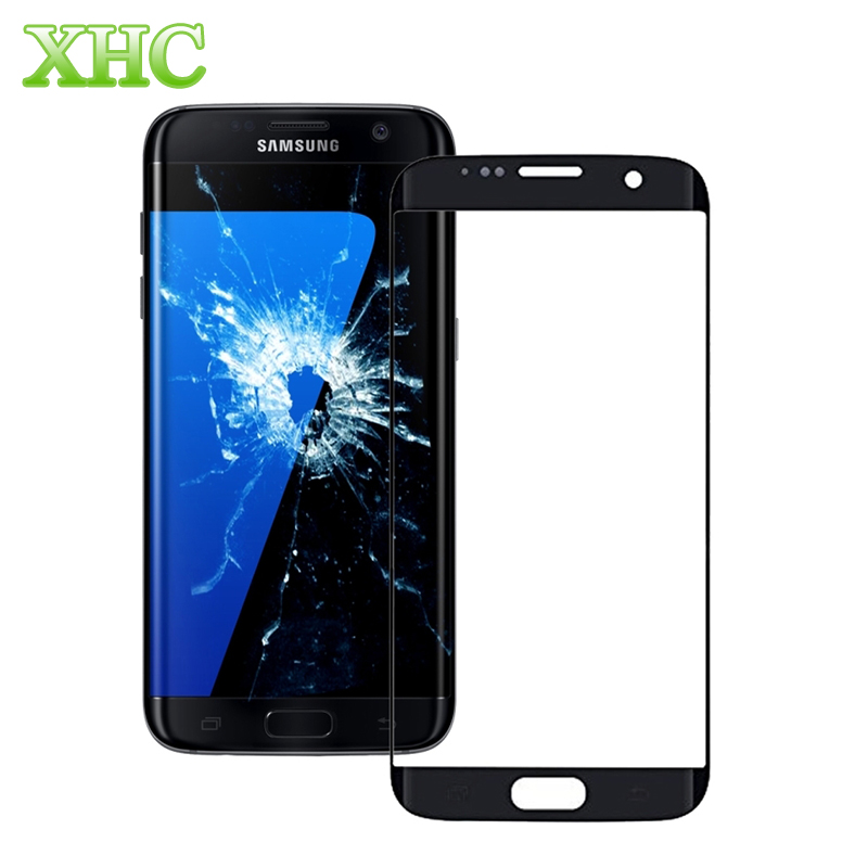 imágenes para Para Samsung Galaxy S7 Edge/G935 Caliente Pantalla Protectora Protector de la Pantalla Frontal Exterior de la Lente de Cristal