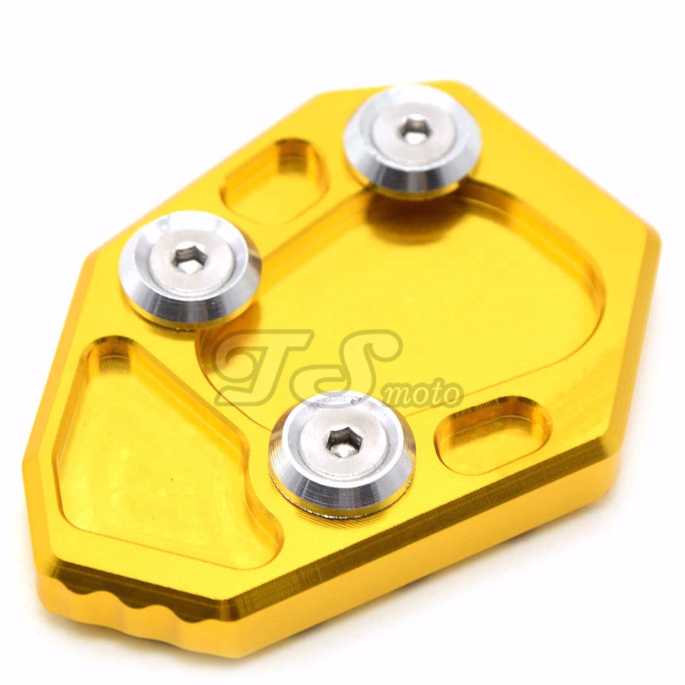 Motorcycle Accessories Side Kickstand Stand Extension Plate pad green color For BMW F800R HP2 R1200S  R 1200S new motorcycle kickstand foot side stand enlarge extension pad support plate for bmw r 1200 gs 2008 2012 r 1200 adv 2008 2012