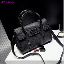 Moorlly Medium Size Winter Women Motorcycle Bag Leather Black Women Handbag High Quality LADIES Bags 4 Colors