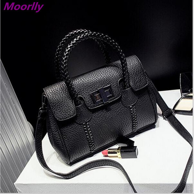 b6e21aa2a1a4 Moorlly Medium Size Winter Women Motorcycle Bag Leather Black Women Handbag  High Quality LADIES Bags 4 Colors