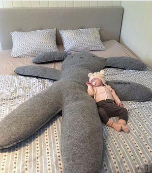 150 см негабаритных ребенка кролик подушки новорожденных Мягкие плюшевые игрушки детские Подставки для фотографий детская комната украшени...