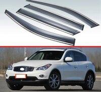لإنفينيتي EX25 EX35 EX37 EX الدرجة J50 2007 2013 البلاستيك الخارجي قناع تنفيس ظلال نافذة الشمس المطر الحرس عاكس 4 قطعة|مظلات وملاجئ|   -