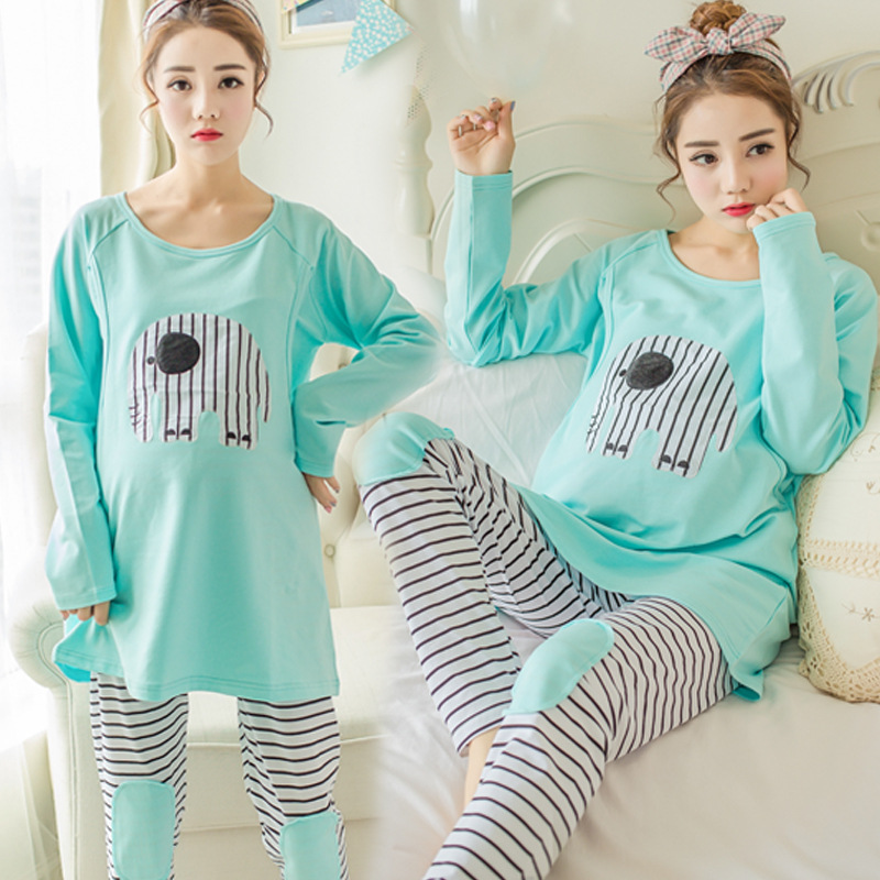 8c43f1cb960d9 ... about Plus size Maternity Breastfeeding Pajamas for Pregnant Women  Feeding Nightwear Set Lactation Nursing Sleepwear Pregnancy Clothes on  Aliexpress.com ...
