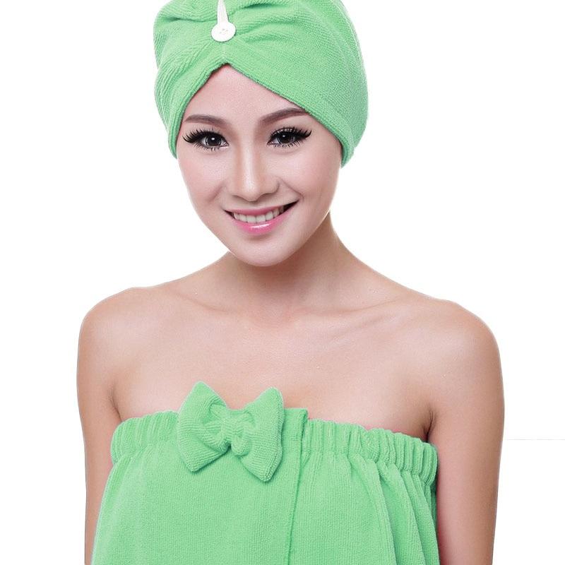 High Quality 140*73 cm Women Bath Skirt Absorbent Shower Body SPA Bath Wrap Towel Bath Robe Dry Hair Cap Sets