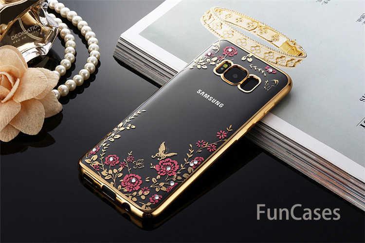 Flower Soft case Para Samsung Galaxy J1 J3 J5 J7 A3 A5 A7 Prime 2016 2017 S6 S7 Borda S8 s9 Mais Tampa Do Telefone Invólucro habitação