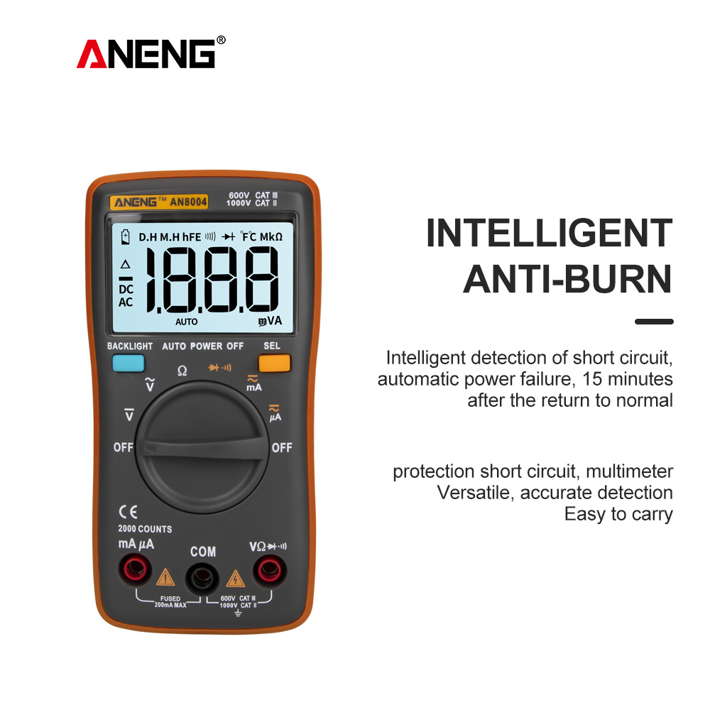 ANENG AN8004 LCD digital multimeter profesional capacitor tester esr meter richmeters inductance meter tester be true Multimeters     - title=