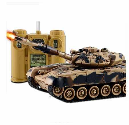 RC Tanque de Guerra Tanque de Tiro em grande escala de Controle Remoto Fun Modelo Militar Do Exército Batalha tanques RC do Controle de Rádio Brinquedo