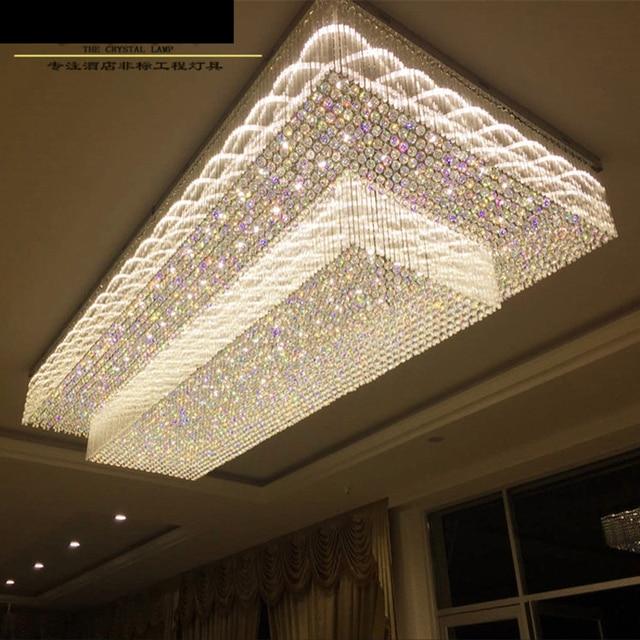 Hotel Project Lighting Custom Rectangular Lobby Ceiling Lamp Ceramic Jewelry Showroom S Sand Table Chandelier Led