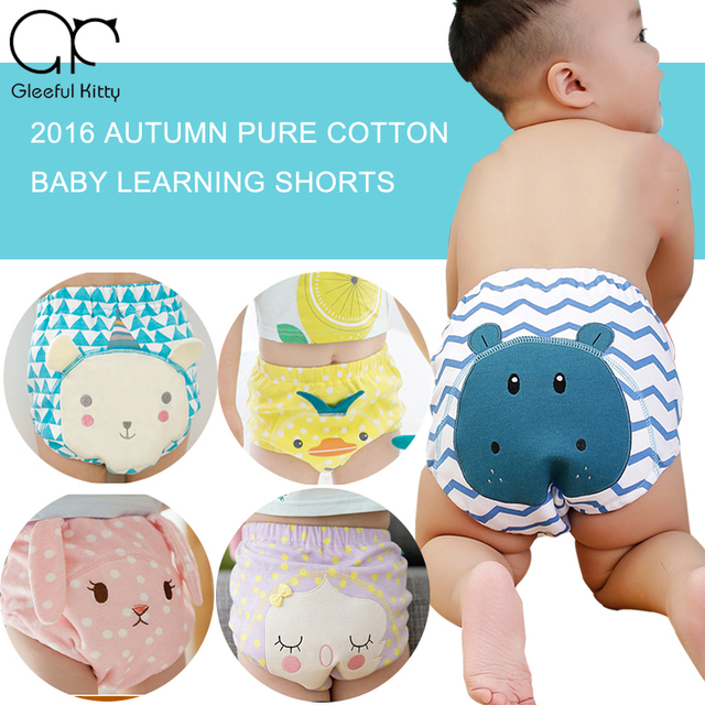 2016 autumn style Infant Toddler Cute cartoon baby Shorts Newborn Baby Boys Girls Shorts baby pant training pants 17 colors