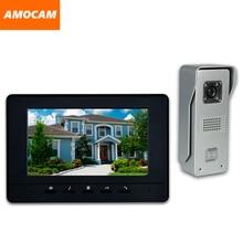 7 Inch LCD Monitor Wired video Doorbell intercom System Video Door Phone Aluminium alloy Camera Video Intercom doorphone Kit