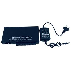 Image 5 - Industrial Grade Gigabit Ethernet Switch 4 Port 1.25G fiber &2 RJ45 bi directional passive fiber optic media converter Board PCB