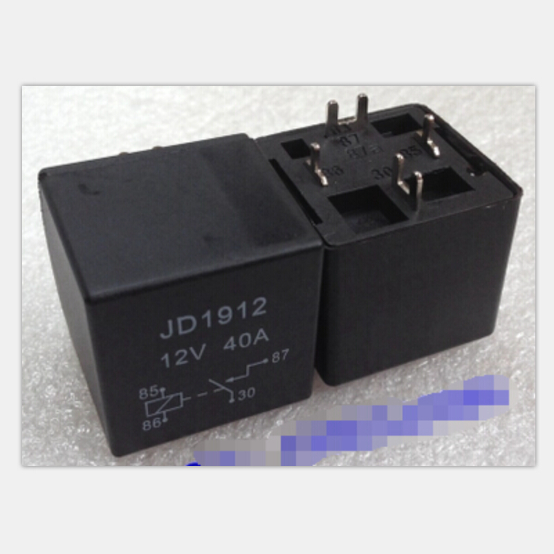 5pcs/lot JD1912 40A automotive relay 12VDC PCB type 4pin normally open relay legs cut legs direct PCB solder board