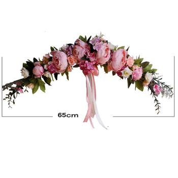 Rose Peony Artificial Flowers Garland European Lintel Wall Decorative Flower Door Wreath For Wedding Home Christmas Decoration 1