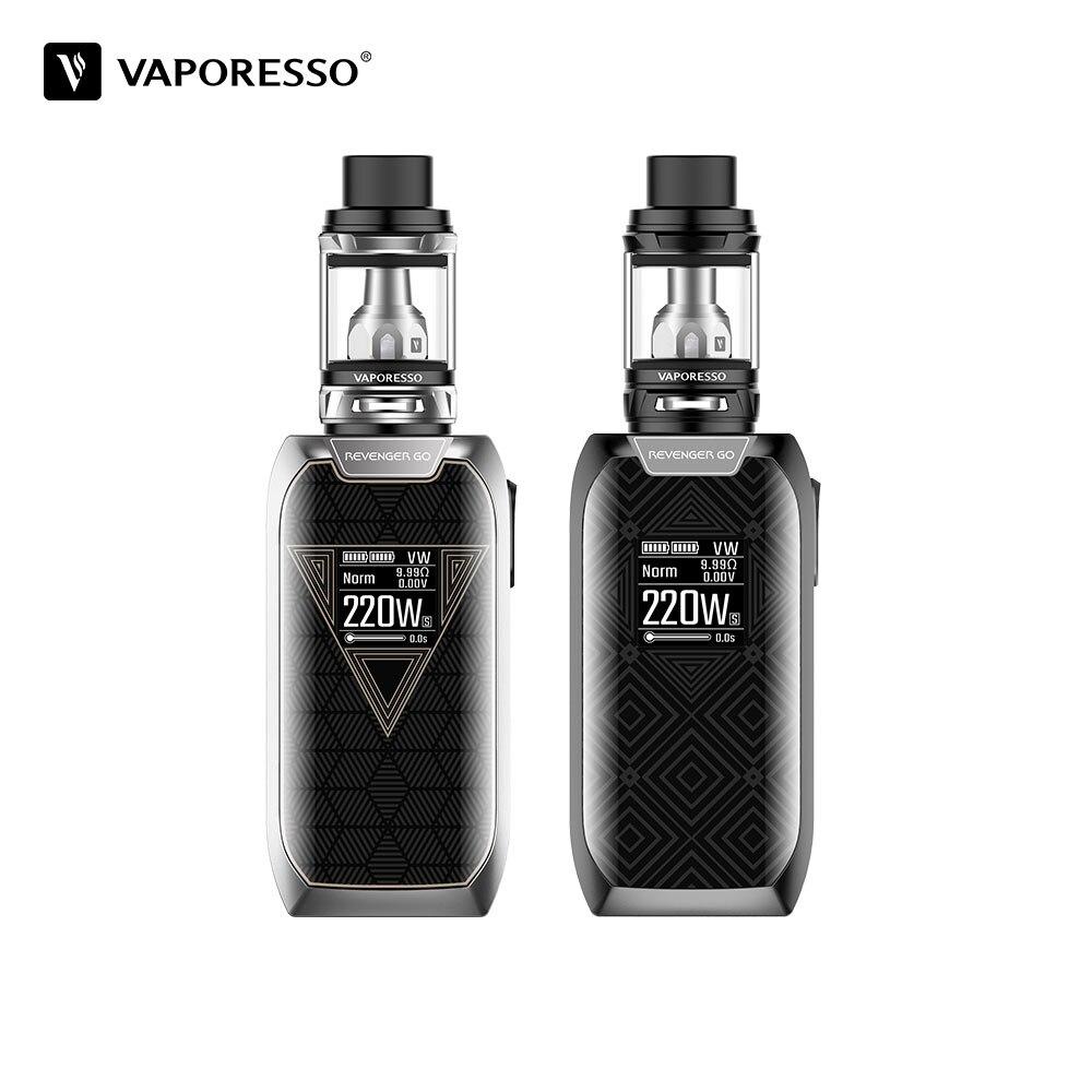 Original Vaporesso Revenger Gehen kit 220 watt mit Gebaut in 5000 mah Batterie und 5 ml/2 ml NRG zerstäuber revenger vaper