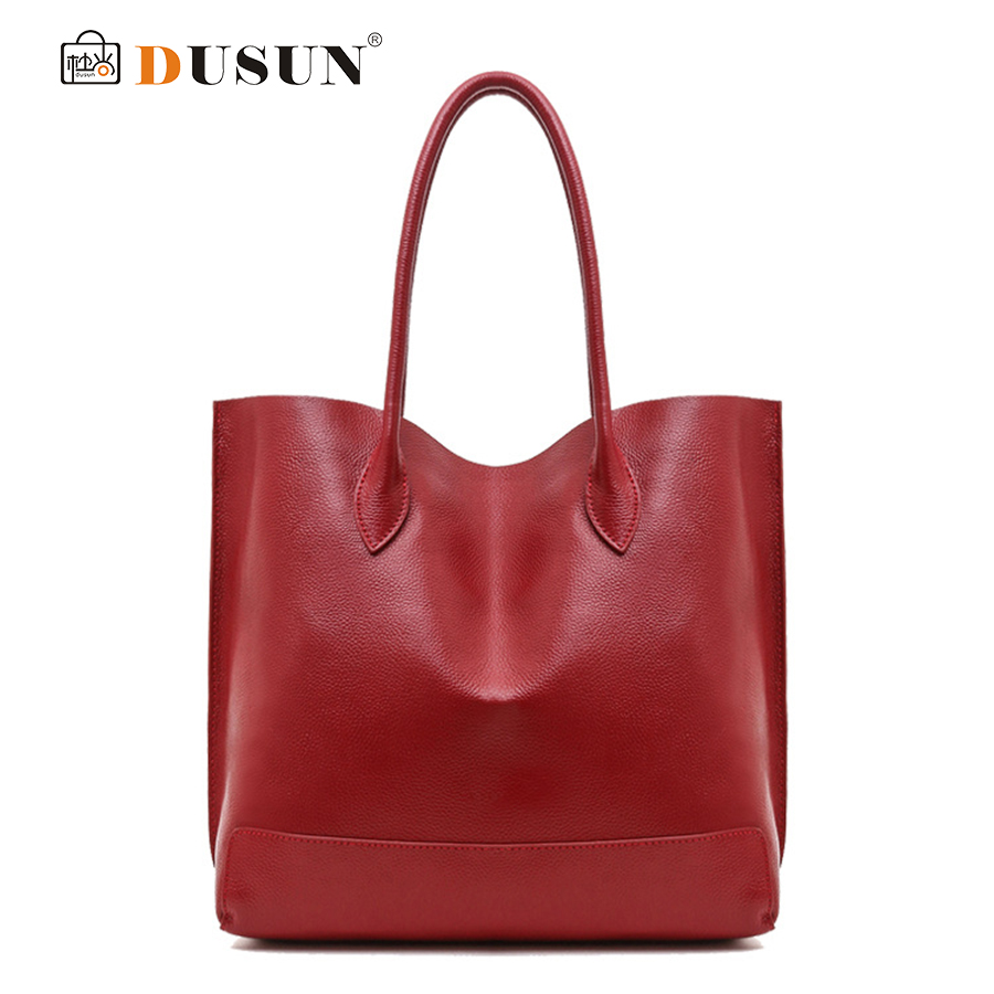DUSUN Winter Women Genuine Leather Handbags,Real Leather Large capacity  Women Tote, Vintage Independent