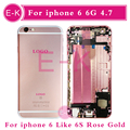 AAA High quality For iPhone 6 6G 4.7'' Full Housing Assembly Complete Middle Frame Chassis with Flex Cable Cover + Tools