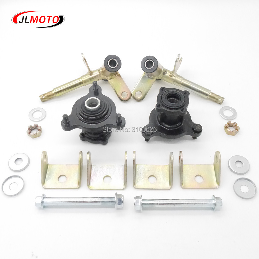 steering wheel diagram single pole wiring 1set strut knuckle spindles with brake disc hubs fit for china atv 49cc 50cc ...