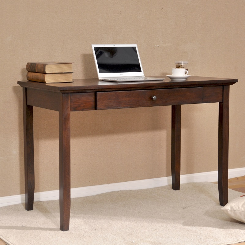 Simple American country wide oak wood small desk computer ...