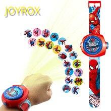 JOYROX принцесса Человек-паук детские часы проекция мультфильм шаблон Цифровые Детские часы для мальчиков девочек светодиодный дисплей часы Relogio