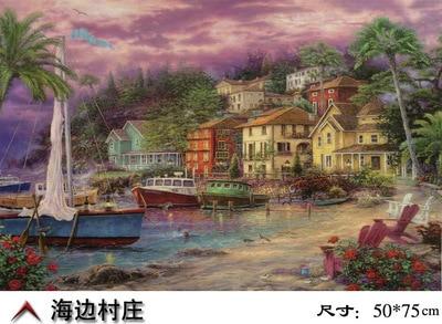 New Arrival Freehand Sea Side Landscape Jigsaw Paper puzzle 1000 pieces plane flat puzzle 1000 pieces on sale