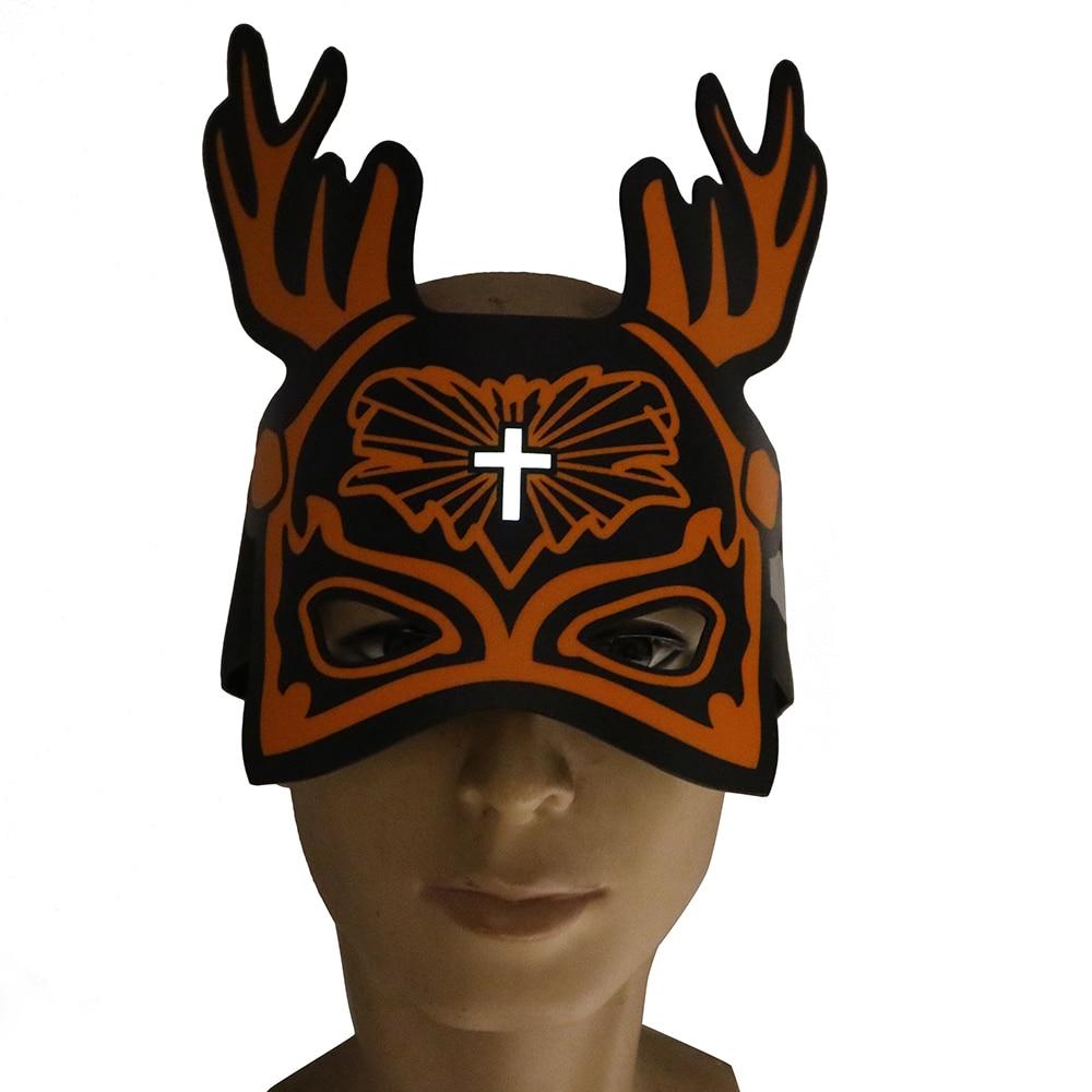 Reindeer Deer Half Soft /& Spongy Mask Animal Adult Costume Accessory