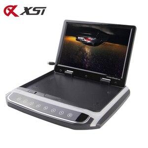 Image 2 - XST 17.3 인치 자동차 지붕 마운트 모니터 HD 1080P 비디오 USB FM HDMI SD 터치 버튼 천장 MP5 플레이어와 TFT LCD 플레이어 아래로 뒤집기