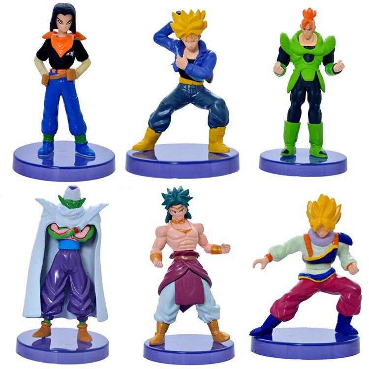 6pcs/set 10-12cm Dragon ball z figures 11th Goku figure chidren pvc toy Christmas gift
