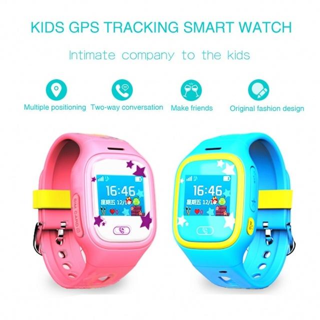 Q525 caliente Marca GPS WIFI de la Pantalla Táctil Inteligente Reloj de Los Niños SOS Llamada Localizador Dispositivo de Seguimiento de Niños Seguro Contra la Pérdida de Monitor