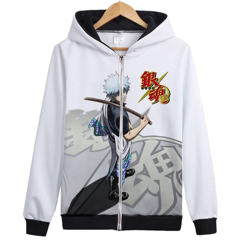 Anime Silver Soul Cosplay Disfraces Sudaderas con capucha Gintama - Ropa de hombre - foto 5