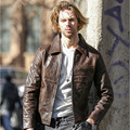 2017 New Men Brown Genuine Leather Jacket Real Thick Cowhide Slim Fit Plus Size XXL Winter Business Casual Coat FREE SHIPPING