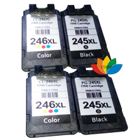 4 Compatible Canon 245 246 PG 245XL CL 246XL Ink Cartridge For Canon PIXMA iP2820 iP2850 MG2420 MG2450 MG2520 MG2550 MG2920|ink cartridge|ink cartridge for canon|cartridge for canon -