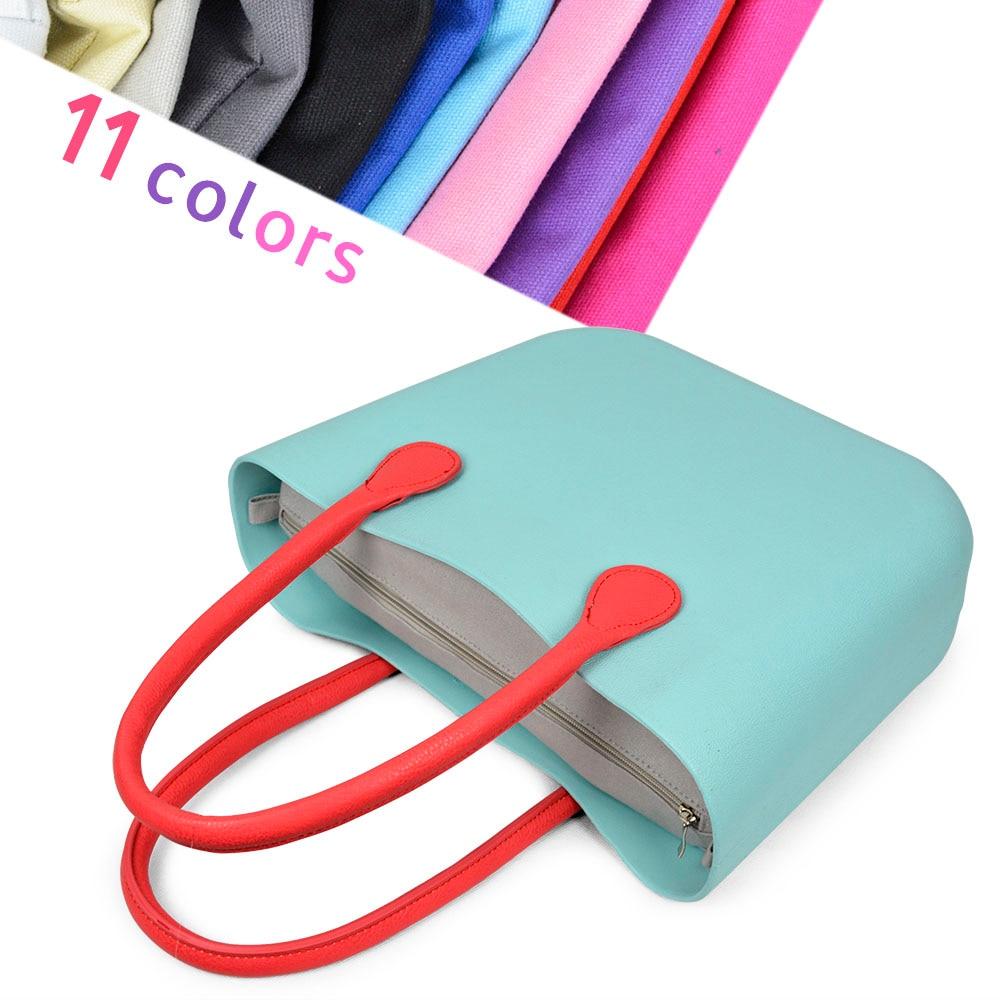 New Inner lining Insert  Zipper Pocket For Classic Mini Obag Canvas insert with inner waterproof coating for O bag