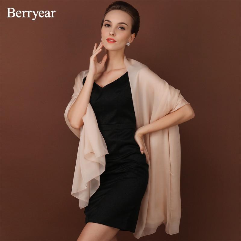Berryear 100% naravni svileni šal ženske dolgi šali Plažni šal - Oblačilni dodatki