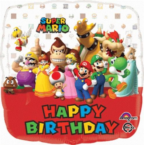 2 Pcs Lot 18 Pouce Anagramme Joyeux Anniversaire Mario Bros Feuille Ballons Enfant Fete D Anniversaire De Decoration De Bande Dessinee Ballon Globos Jouet Aliexpress