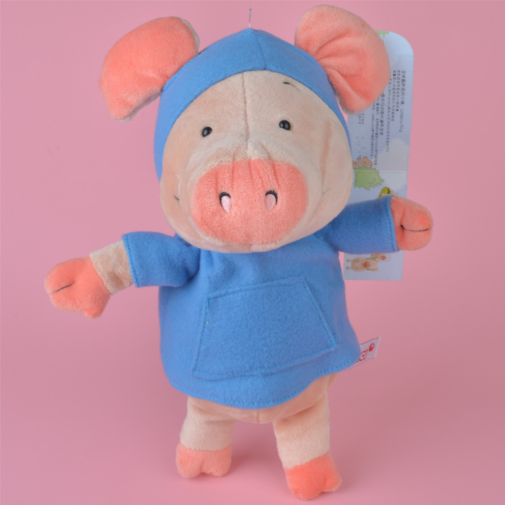 25cm-35cm Blue Cloth Wibbly Pig Stuffed Plush Toy Cute Baby/ Kids Gift, Plush Doll Free Shipping