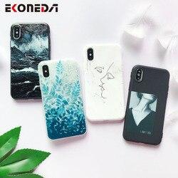 Мягкий чехол для телефона EKONEDA из ТПУ для iPhone 6S, силиконовый Черный Простой Чехол для чехол для iPhone 7 6 6S 7Plus XS Max X 8